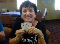 Pat M from Burlington, MA. Straight Flush playing Let It Ride! BIG WINNER!