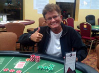 Susan C of Powell, MA. 4 Of A Kind playing Let it Ride! $180 WINNER!