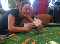 Coreen W. of Melrose, MA. 4-of-a-kind playing Let It Ride! $700 WINNER!